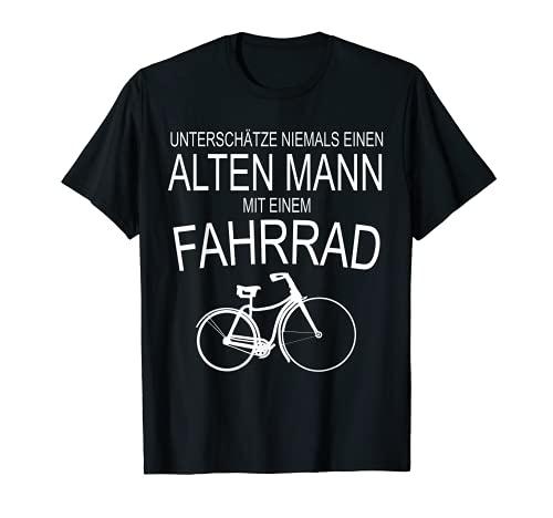 Herren Radfahrer Opa Geschenk Shirt Tshirt Unterschätze niemals Bild