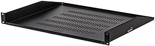 NavePoint Cantilever Server Shelf Vented Shelves Rack Mount 19 Inch 1U Black 14 Inches (350mm) deep