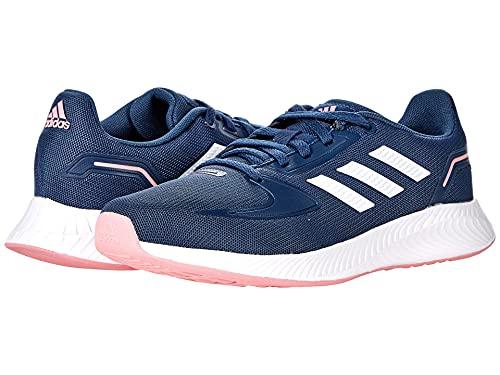 adidas Runfalcon 2.0 Running Shoe, Crew Navy/White/Super Pop, 5 US Unisex Big Kid