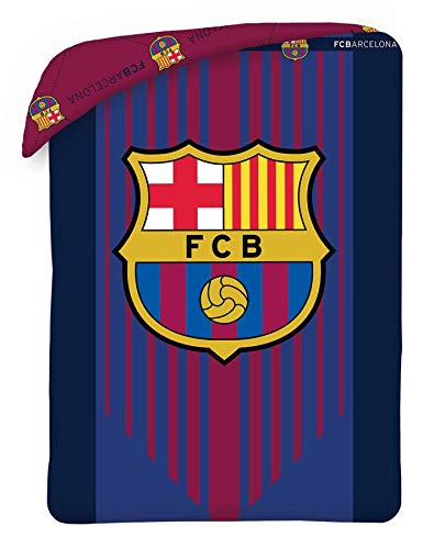 FCB FCBARCELONA Ropa de Cama, Colcha Verano Reversible 180x260cm de FC Barcelona (100-286), Multicolor, 180x260