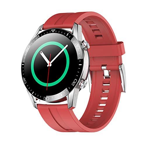 QLK 2021 TK28 Smart Watch Men's Bluetooth Bluetooth Llamada Smartwatch Tarifa Cardíaca Presión Arterial Deportes Fitness Pulsera Reloj para Android iOS,B