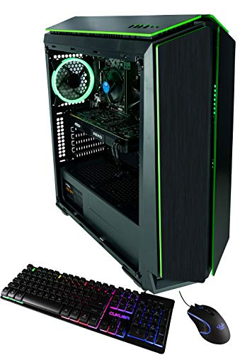 CUK Mantis Custom Gaming PC (Intel i5-9400F, 16GB DDR4-2666 RAM, 512GB NVMe SSD, NVIDIA GeForce RTX 2060 6GB, 600W Gold PSU, Windows 10) The Best New Tower Desktop Computer for Gamers