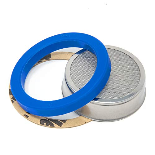Blue Silicone Brew Group Gasket And No-Weld Shower Screen For E61 Coffee Machines
