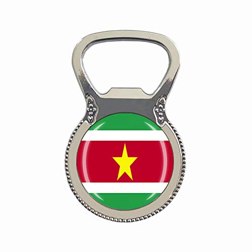 Suriname Flagge Bierflaschenöffner Kühlschrank Magnet Metall Glas Kristall Reise Souvenir Geschenk Heimdekoration