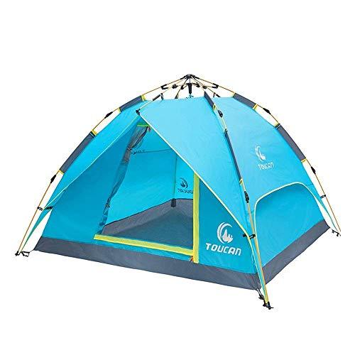 Viajes montañismo Carpa al aire libre automático hidráulico tienda portable de tres-en-uno Doble camping puede efectivamente bloquear la radiación ultravioleta fuera adecuado for el senderismo camping