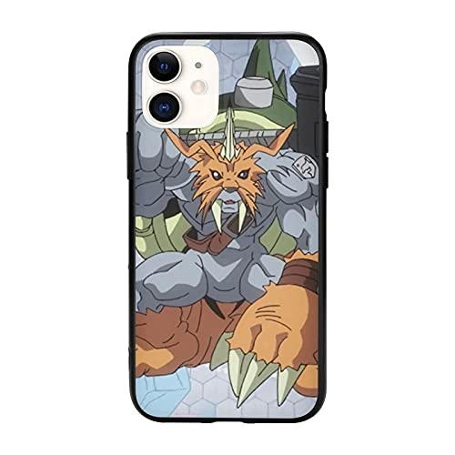 Compatibile con iPhone 12/12 11 Pro Max mini X/XS Max XR 8 7 6 6s Plus SE Caso Samsung S21 Ultra Black Custodie per cellulari Cover Gomamon Digimon