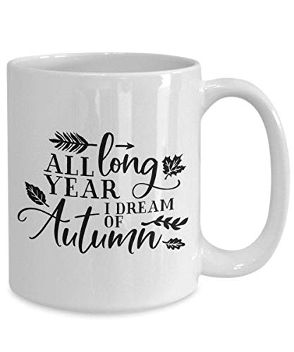 25 rabatt rea höst oktober höst året lång i Dream of Autumn gåva vit keramik kaffe
