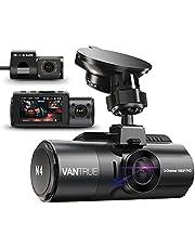 VANTRUE N4 3 Lens Dashcam 1440P + Dual 1080P Camera Auto, 4K 3840x 2160P voor, infrarood cut nachtzicht, 24/7 parkeermodus, WDR 2,45 inch IPS, hittebestendig supercondensator Dash Cam G-sensor Max 256 GB