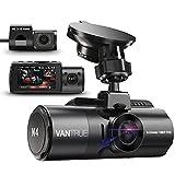 Vantrue N4 Triple Dashcam 1440P+Dual 1080P Avant et Arrière, 4K Frontale Caméra Embarquée Voiture...