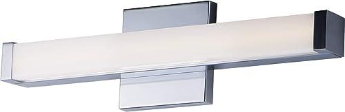 "high quality Maxim outlet sale 52000PC Spec ADA & JA8 Compliant Energy Star Acrylic discount LED Bath Vanity Bar Wall Mount, 1-Light 12 Watt, 2""H x 18""W, Polished Chrome online"
