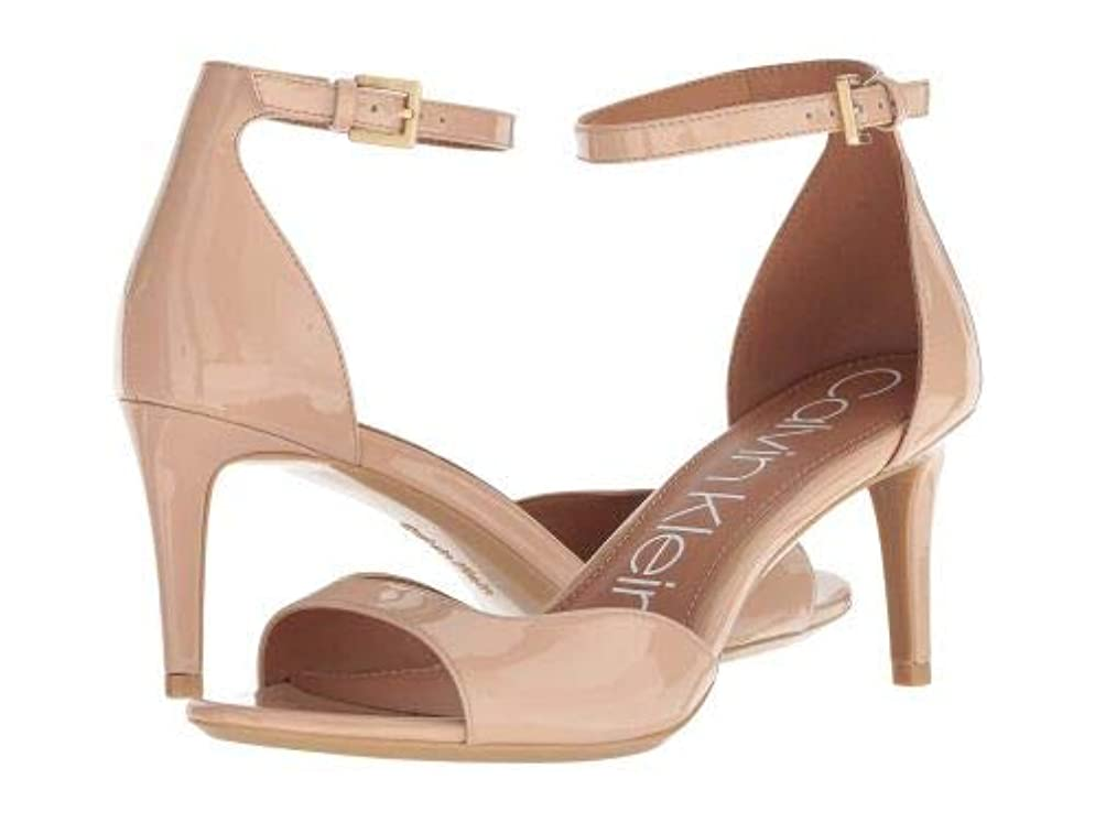 魅力熟した骨折Calvin Klein(カルバンクライン) レディース 女性用 シューズ 靴 ヒール Luellen - Desert Sand Patent [並行輸入品]