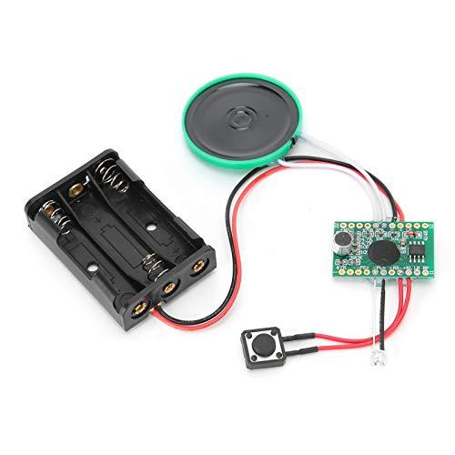 KUIDAMOS Módulo De Audio, Calidad De Sonido Clara Fácil De Usar Módulo De Voz De 4 Minutos para Tarjetas De Navidad para Buenas Cajas De Regalo