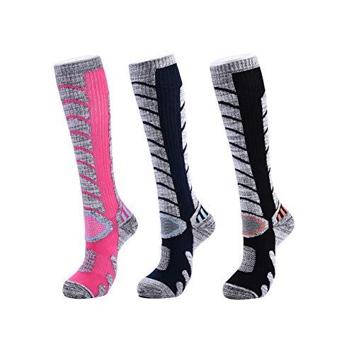 Adicop Ski Socks for Men Women Youth Extra Thick Winter Warm Wool Snowboarding Socks Winter Performance Socks for Cold Weather Skiing Snowboarding Climbing Hiking