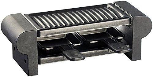 Rosenstein & Söhne Raclette Grill: Raclette für 2 mit Grillaufsatz & heißem Stein, 350 Watt (Tischgrill)