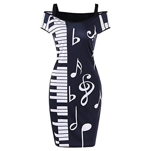 Why Should You Buy Auimank Women Skirt, 2019n Women Music Note Print Strapless V-Neck Short Sleeve C...