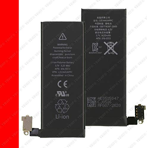 YBWF OriginaI 1430mAh Battery for Apple iPhone 4S A1431, A1387, A1387 (1430mAh) with 3 Months Warranty (White)