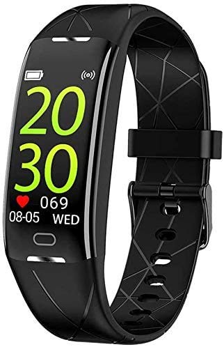 JIAJBG Fitness Tracker Smart Pulsera Monitoreo de ritmo cardíaco Multi-Modo Pulsera Deportiva Monitoreo de Salud, Información Push Negro Sport Fitness Tracker Delicado