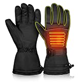 CLISPEED Winter Electric Heated Gloves Thermal Hand Warmers Touch Screen Ski Gloves for Women Men Cold Weather Skiing Snowboarding (XL)