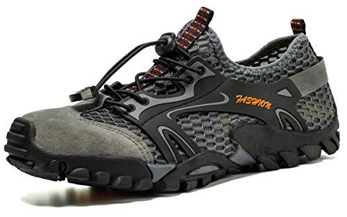Herren Wanderschuhe Damen Wasserschuhe Trekkingschuhe Sommer Sandale rutschfest Badeschuhe Atmungsaktiv Wanderstiefel Breathable Hiking Sport Sneakers