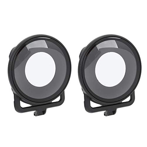 Yunir 2PCS Protector de Lente panorámica Película de Revestimiento óptico Impermeable Cubierta de protección de Lente de Alta transmisión de luz para cámara Deportiva Insta360 One R