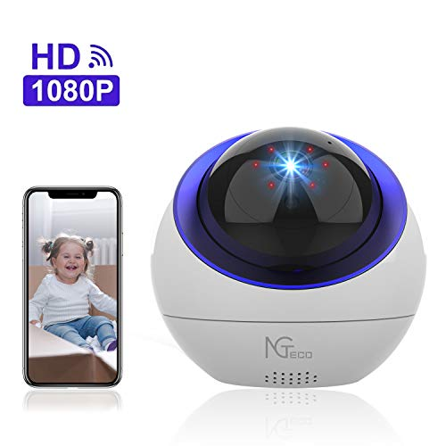 Indoor Security Camera, NGTeco Wireless Cameras for Home Security - 1080P WiFi Space Ball Cam IP Monitor for Baby/Pet/Nanny with...