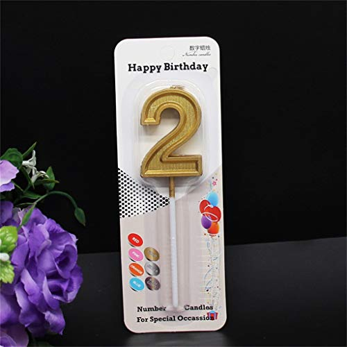 Birthday Number Candles, Glittering Birthday Candles, Birthday Decoration Cakes, Weddings, Graduation Ceremonies, etc., Longevity Candles for Children and Adults (2)