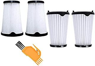 Jcevium Lot de 4 filtres avec brosse de nettoyage pour aspirateur AEG CX7 CX7-2 AEF150.