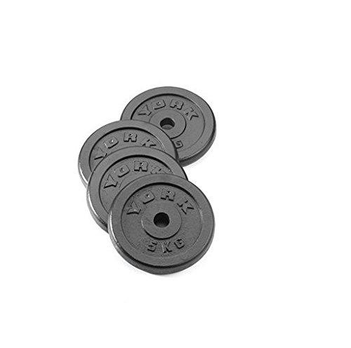 York Fitness 4 x 2,5 kg standard gjutjärn skivuppsättning