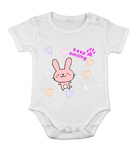Baby Newborn Clothing Short sleeve Suit Bunny smile love animal printing 18M