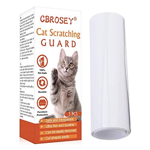 CBROSEY Kratzschutz Katze,Anti Kratze Katzen,Antikratzfolie Katze,Couch Kratzschutz Katze Sofa,Kratzwand Katze,Anti-Scratch Cat Scratching Abschreckungsband