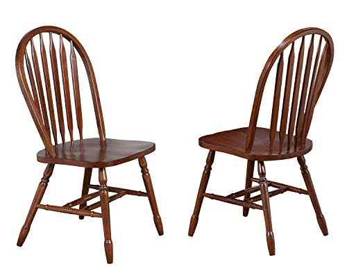 Sunset Trading Andrews Dining Chair, Distressed chestnut finish