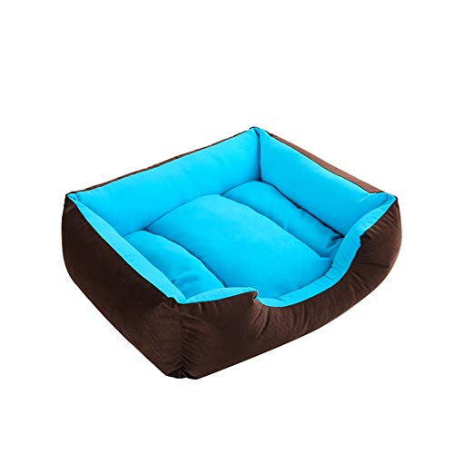 Pecute Cama De Perros Doméstico, Cama del Perro For Gatito Gato Cachorro Suave Mat De Interior Casero Cojín del Sofá Casa con Reversible (Color : Blue, Size : 17.7 x 13.8 in)