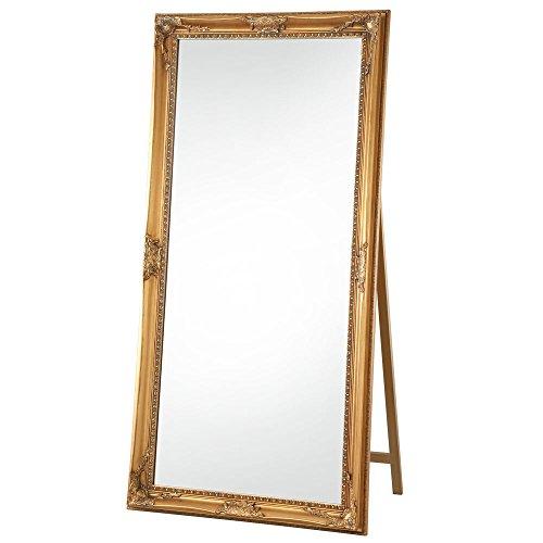ぼん家具 姿見 大型 全身鏡 高さ180cm 幅90cm 飛散防止 スタンドミラー 鏡 ゴールド