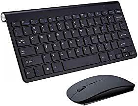 USB External Notebook Desktop Computer Universal Mini Wireless Keyboard Mouse, Style: Keyboard and Mouse Set Durable (Colo...