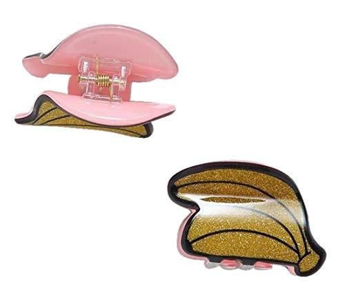 Plus Nao(プラスナオ) ヘアクリップ バンスクリップ ミニ 2個セット キッズ 女の子 髪留め 髪飾り ヘアアクセサリー 小さい 小サイズ 果物 - 2バナナ