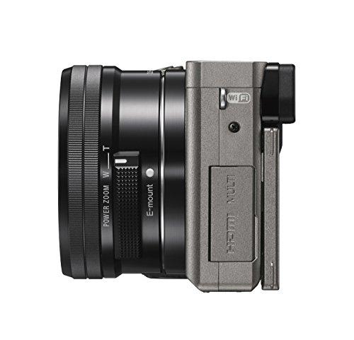 Sony Alpha 6000 Systemkamera (24 Megapixel, 7,6 cm (3) LCD-Display, Exmor APS-C Sensor, High Speed Hybrid AF) inkl. SEL-P1650 Objektiv graphit-grau