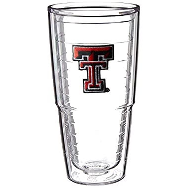 Tervis Texas Tech University Emblem Individually Boxed Tumbler, 24 oz, Clear