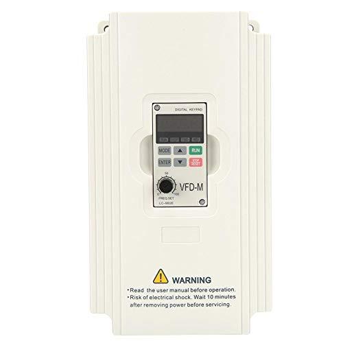 VFDドライブインバーター、単相/三相220V VFDインバーター可変周波数ドライブインバーター、ACモータードライブ電圧、ユニバーサルVFDインバーター周波数コンバーター(3.7KW 17A)