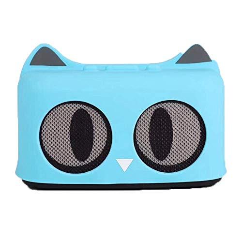 LDQLSQ Tragbarer Lautsprecher Bluetooth-Box Freisprechen Wasserdicht Cartoon Cat Tragbarer Subwoofer Mini Drahtloser Bluetooth Lautsprecher,Blue
