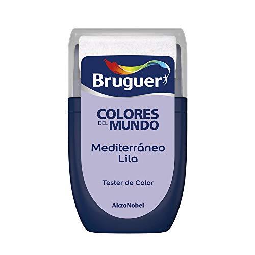 Bruguer Tester Colori del mondo Pittura per pareti monostrato Mediterraneo Lilla, 0,030 litri