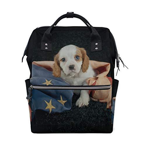 Borsa cucciolo di cane Combina borse per pannolini ad alta capacità Borsa per mummia Multi funzioni Borsa per neonati pannolino Borsa per bambini Cura del bambino Viaggi Quotidiano Donne