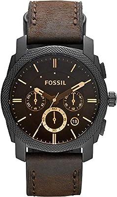 Fossil Herren Chronograph Quarz Uhr mit Leder Armband FS4656 zum TOP Preis