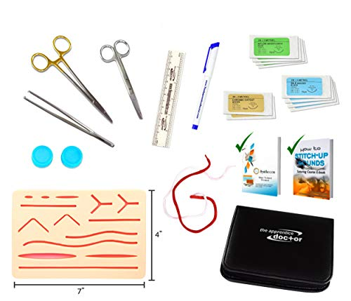Suture Practice Kit by The Apprentice Doctor | includes Suturing Video Series from an Experienced...