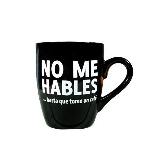 Miss Miserable Taza con mensaje No me hables... - Taza original - Taza desayuno original - Tazas graciosas - Tazas de café - Regalo original