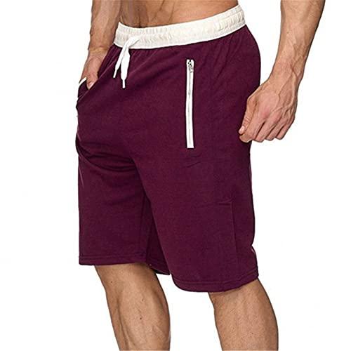 Pantalones Cortos de Verano Hombres Pantalones Cortos Casuales Masculinos