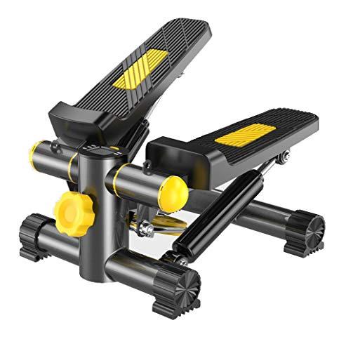 ZKORN Mini Stepper, Entrenamiento de piernas Gimnasio de bajo Impacto Máquina de Gimnasio La Pantalla LCD Muestra Las calorías quemadas, con 2 Bandas de Resistencia