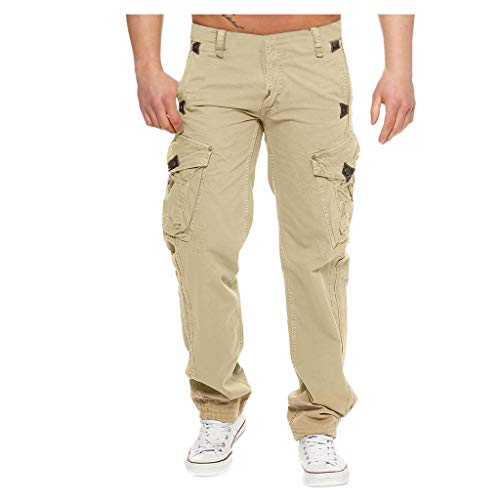 Best Prices! Leadmall Men's Tactical Pants - Men Lightweight Military Work Outdoor Cargo Pant - Rela...
