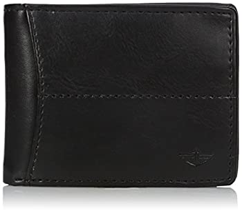 Dockers Men s Bifold Leather Wallet-Thin Slimfold Extra Capacity Black Stitch One Size