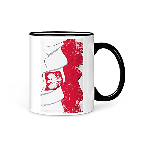 Tasse Kaffeetasse Polen Fahne 2