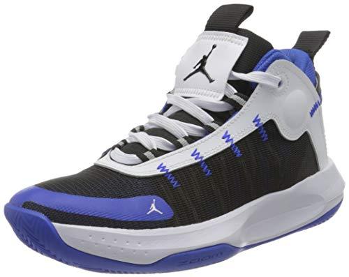 Nike Herren Jordan Jumpman 2020 Leichtathletik-Schuh, Racer Blue/Black-White-Metallic Silver, 43 EU